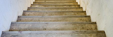 zandstralen van een trap